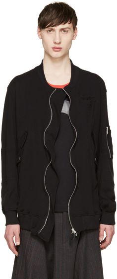 Undercover - Black Jersey Bomber Jacket