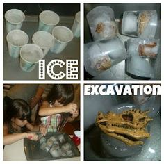 a great beat the heat activity for kids of all ages - Ice Excavation!