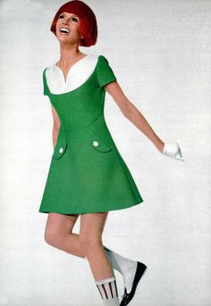 Courrèges mini dress 1960s