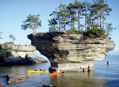 Kayak in a beautiful place, this is in the thumb of Michigan, believe it or not!