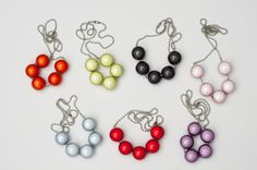 Beautiful handmade necklaces to add a splash of colour to your outfit! check out http://shop.lindatoye.fi/ for more! thanks