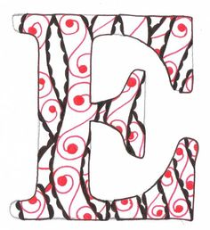 Creative Doodling with Judy West: Braided Alphabet Distructions