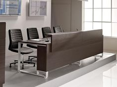 Rectangular wooden meeting table I-Meet Collection by Las Mobili