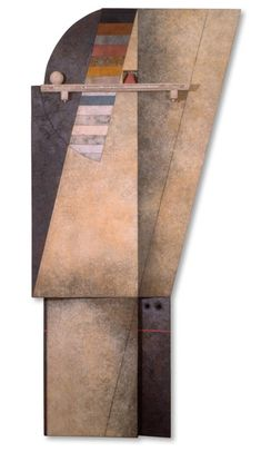 """Marcelo Bonevardi, """"Trapped Angel III,"""" Stitched burlap and wood Large Painting, Painting On Wood, Abstract Shapes, Abstract Art, Best Art Books, Tribute In Light, New York Museums, Assemblage Art, Museum Of Modern Art"""