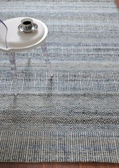 The Rug Barn Hand Made Blue Recycled Denim Fabric & Wool Bolivia Rug x 1 Piece (Free Express Shipping) Recycled Denim, Recycled Fabric, Wool Carpet, Rugs On Carpet, Denim Rug, Carpets Online, Bolivia, Fabric Material, Hand Weaving