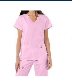 3ba2cdd02b1 Koi Mariposa Medical Scrub Set Maria Pant 728 & Cassie Top 364 Medium Pink  Sach 843515290180 | eBay