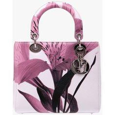 Lady Dior White with Flower Handbag