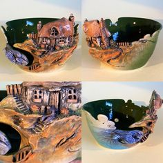 This one is soooo cool as well:) Yarn Bowl 'Fisherman's Cottage' by EarthWoolFire on Etsy $168 US