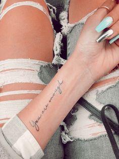 Wrist Tattoos Girls, Cute Tattoos On Wrist, Pretty Tattoos, Word Tattoo Wrist, Mini Tattoos, Finger Tattoos, Small Tattoos, Text Tattoo, Classy Tattoos For Women