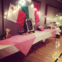Italian luncheon table decor...I had fun decorating for this!