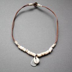 Necklaces for Men   Details about NEW Leather Men's Metal Surfer Necklace Choker Pendant ...