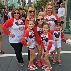 I love these Disney Minnie shirts made for the whole family!!! Raglan style with large ears and initials. Ladies/girls shirts will have Minnie