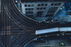 Chicago CTA Train Overhead View by baker2512 on @creativemarket