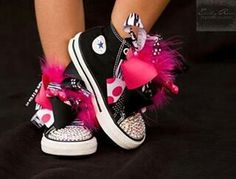 Blinged baby converse