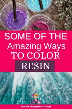 Epoxy Resin Art, Diy Epoxy, Diy Resin Art, Diy Resin Crafts, Fun Diy Crafts, Acrylic Resin, Coloring Resin, Diy Resin Projects, Making Resin Jewellery