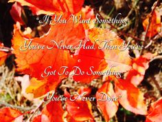 """#WordsOfWisdom Wednesday """"If you want something you've never had, then you've got to do something you've never done"""" ;) #Dream #Believe #Achieve #LiveBetter #HappinessMovement #Quote #WiseWords"""