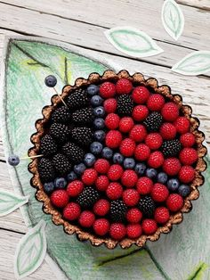 Lady Bug Gluten Free Chocolate Tart - Health and wellness: What comes naturally Easy Food Art, Cute Food Art, Dessert Sans Gluten, Gluten Free Desserts, Chocolate Pies, Gluten Free Chocolate, Tart Recipes, Fruit Recipes, Lady Bug