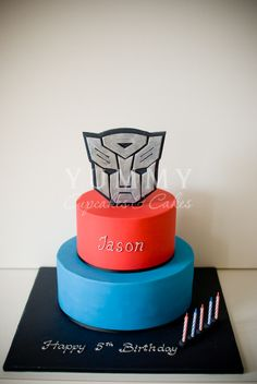 Image detail for -Transformers Theme birthday cake | Yummy Cupcakes and Cakes