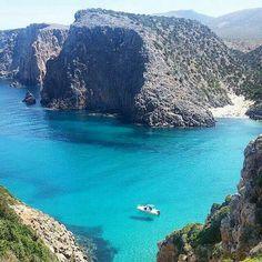 Veduta dall'alto di Cala Domestica (Buggerru) -Sardinia #Cerdeña #Sardegna