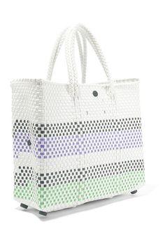 Truss - Small Crossbody striped woven raffia-effect shoulder bag bad664bbba3c9