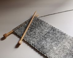 Herringbone stitch.
