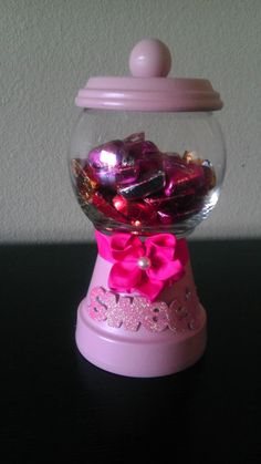 Faux gumball machine (candy dish)