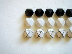 Geometric White& Black Wood Beads 20mm Big Hole por LiKeBeads8, $11.50