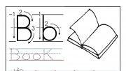 Printable letter B tracin…