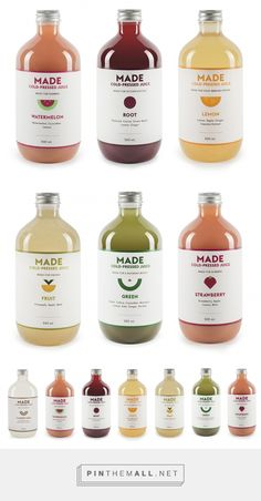 Made Cold Pressed Juice Packaging by Made Juice | Fivestar Branding – Design and Branding Agency & Inspiration Gallery