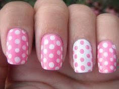 Pink polka dot nail art with Zoya Nail Polish in Shelby - Young Wild and Polished