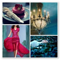 teal and hot pink  Great color palette