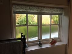 Roller Blind in Clarke & Clarke Nostalgic Prints and Maritime contrast edge