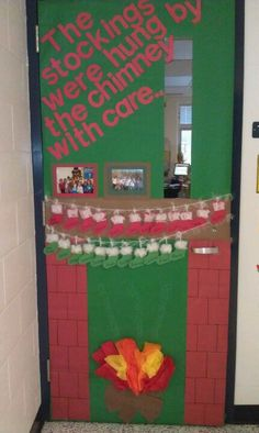 classroom door decoration - one stocking for every child :)