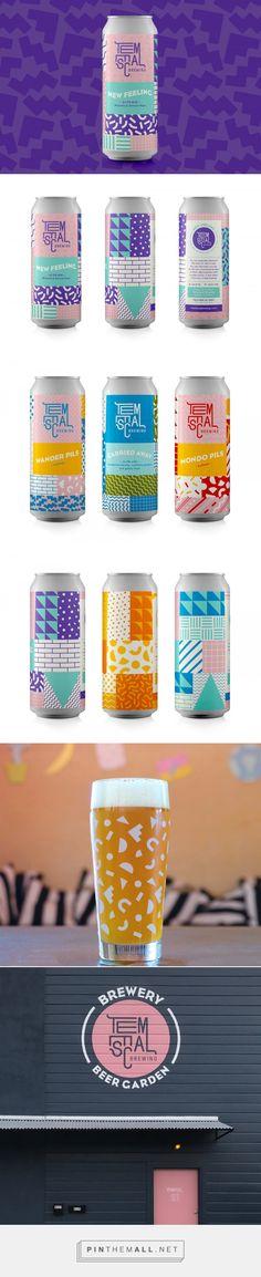 Grabbing Brews design by Beau Monroe Organic Packaging, Beer Packaging, Beverage Packaging, Brand Packaging, 80s Design, Label Design, Branding Design, Logo Design, Graphic Design
