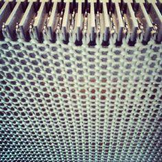 Manual machine knitting