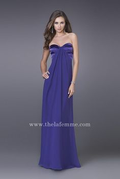 Blue Beautiful Long Strapless Princess Prom Dresses Wholesale By La Femme 14589