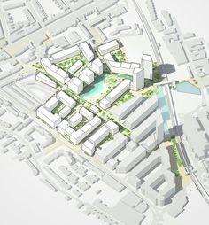 Project team LDA Design, London is part of Urban design concept - Landscape Model, Landscape Concept, Landscape Architecture Design, Urban Landscape, Facade Architecture, Urban Design Concept, Urban Design Diagram, Urban Design Plan, Urban Design