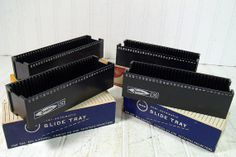 Vintage Universal Yankee Black Plastic Slide Trays by DivineOrders, $8.00