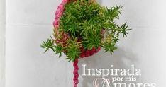 Si te gusta el crochet y te gustan los  proyectos rápidos este que traigo es ideal, porque estáhecho en totora o trapillo, un material... Crochet Teddy Bear Pattern, Knit Crochet, Mini Vasos, Macrame, Art Projects, Cactus, Creations, Knitting, Diy