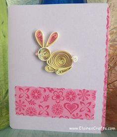 Quilling Cards Ideas | Quilled Easter Bunny Card | Cards, Paper Quilling | Elaine's Crafts