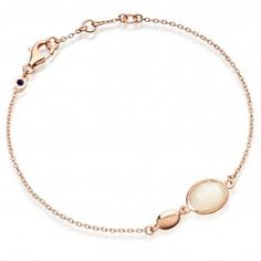 I love the Moonstone Oval Stilla Bracelet 18ct Rose Gold Vermeil from Astley Clarke.