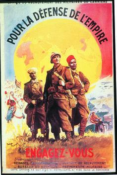 """""""Pour la défense de la France"""", affiche signée Maurice Toussaint, 1939. © Coll. Groupe de recherche Achac"""