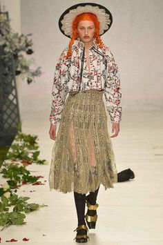 Meadham Kirchhoff Spring 2014 Ready-to-Wear Collection Slideshow on Style.com Best  of Thrift Store Vintage Inspired