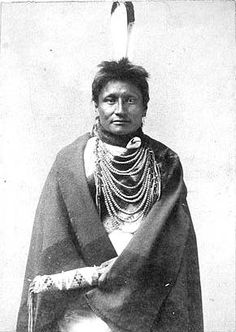 Crow Indian Man - No name - Photo by David F. Barry - No date - (B/W copy)