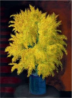 Moise Kisling bouquet of mimosa. Circa 1930