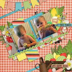 Layout using {Grow Like A Weed} Digital Scrapbook Kit by Aprilisa Designs http://www.gottapixel.net/store/manufacturers.php?manufacturerid=135