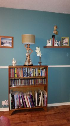 Bookcase and Lady lamp Living room