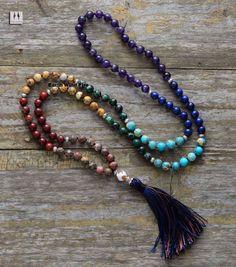 7 Chakras 108 Beads Mala Necklace