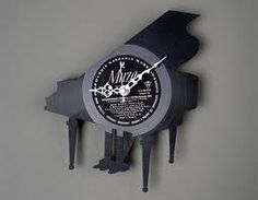 """""""Piano"""" Wall Clock for Sale at Bouf Used Vinyl Records, Old Records, Vinyl Record Clock, Record Wall, Unique Clocks, Cool Clocks, Clocks For Sale, Vinyl Crafts, Recycled Art"""