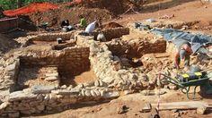 Renac Les thermes romains mis en jour comprenaient quatre salles et deux bassins.